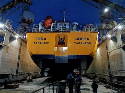End of repair works m/t Gheba